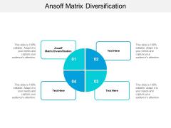 Ansoff Matrix Diversification Ppt PowerPoint Presentation Portfolio Deck Cpb