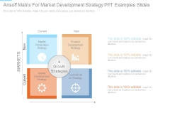 Ansoff Matrix For Market Development Strategy Ppt Examples Slides
