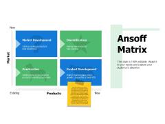 Ansoff Matrix Ppt PowerPoint Presentation Layouts Sample
