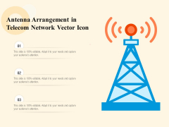 Antenna Arrangement In Telecom Network Vector Icon Ppt PowerPoint Presentation File Professional PDF