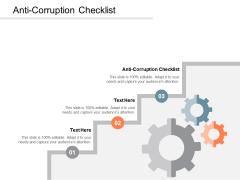 Anti Corruption Checklist Ppt PowerPoint Presentation Infographic Template Brochure Cpb