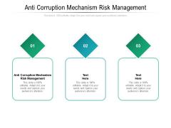 Anti Corruption Mechanism Risk Management Ppt PowerPoint Presentation Infographic Template Ideas Cpb Pdf
