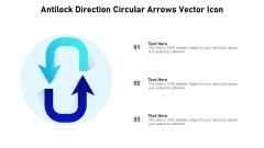 Antilock Direction Circular Arrows Vector Icon Ppt PowerPoint Presentation Gallery Information PDF