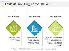 Antitrust And Regulatory Issues Ppt PowerPoint Presentation Slides Deck