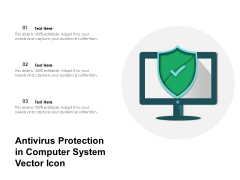Antivirus Protection In Computer System Vector Icon Ppt PowerPoint Presentation File Graphics Pictures PDF