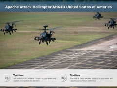 Apache Attack Helicopter AH64D United States Of America Ppt PowerPoint Presentation File Background Image PDF