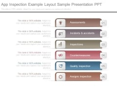 App Inspection Example Layout Sample Presentation Ppt