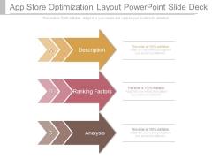 App Store Optimization Layout Powerpoint Slide Deck