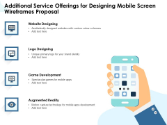 App Wireframing Additional Service Offerings For Designing Mobile Screen Wireframes Proposal Infographics PDF