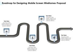 App Wireframing Roadmap For Designing Mobile Screen Wireframes Proposal Brochure PDF