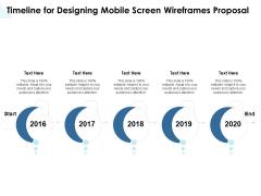 App Wireframing Timeline For Designing Mobile Screen Wireframes Proposal Portrait PDF