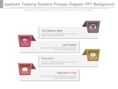 Applicant Tracking Systems Process Diagram Ppt Background