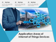 Application Areas Of Internet Of Things Devices Ppt PowerPoint Presentation Model Inspiration PDF