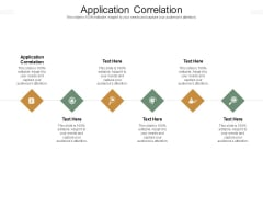 Application Correlation Ppt PowerPoint Presentation Pictures Graphics Design Cpb Pdf