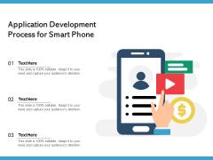Application Development Process For Smart Phone Ppt PowerPoint Presentation Ideas Infographics PDF