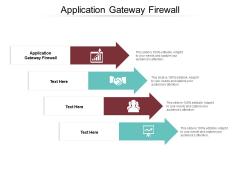 Application Gateway Firewall Ppt PowerPoint Presentation Outline Design Inspiration Cpb Pdf