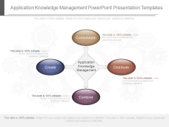 Application Knowledge Management Powerpoint Presentation Templates