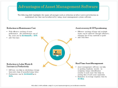 Application Life Cycle Analysis Capital Assets Advantages Of Asset Management Software Graphics PDF