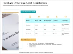 Application Life Cycle Analysis Capital Assets Purchase Order And Asset Registration Guidelines PDF