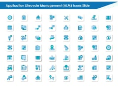 Application Lifecycle Management ALM Icons Slide Demonstration PDF