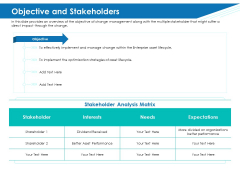Application Lifecycle Management ALM Objective And Stakeholders Formats PDF