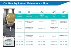 Application Lifecycle Management ALM Our New Equipment Maintenance Plan Mockup PDF