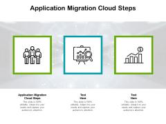Application Migration Cloud Steps Ppt PowerPoint Presentation Model Demonstration Cpb Pdf