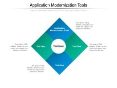 Application Modernization Tools Ppt PowerPoint Presentation Outline Ideas Cpb Pdf