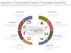 Application Of Social Media Example Presentation Powerpoint