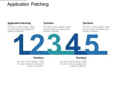 Application Patching Ppt PowerPoint Presentation Gallery Clipart Images Cpb