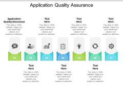 Application Quality Assurance Ppt PowerPoint Presentation Model Inspiration Cpb Pdf