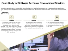 Application Technology Case Study For Software Technical Development Services Information PDF