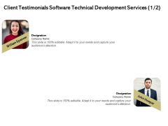 Application Technology Client Testimonials Software Technical Development Services Ideas PDF