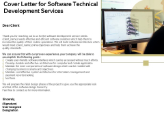 Application Technology Cover Letter For Software Technical Development Services Topics PDF
