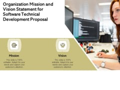 Application Technology Organization Mission And Vision Statement For Software Technical Development Proposal Download PDF