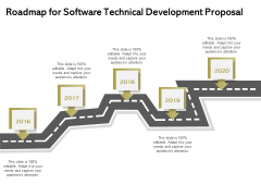 Application Technology Roadmap For Software Technical Development Proposal Diagrams PDF