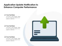 Application Update Notification To Enhance Computer Performance Ppt PowerPoint Presentation Portfolio Example PDF
