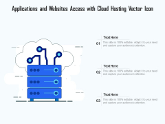 Applications And Websites Access With Cloud Hosting Vector Icon Ppt PowerPoint Presentation Gallery Graphics Tutorials PDF