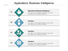 Applications Business Intelligence Ppt PowerPoint Presentation Slides Format Cpb Pdf