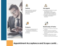 Appointment Acceptance And Scope Contd Territory Ppt PowerPoint Presentation Icon Visuals