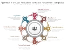 Approach For Cost Reduction Template Powerpoint Templates