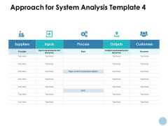 Approach For System Analysis Outputs Ppt PowerPoint Presentation Professional Shapes