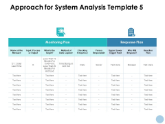 Approach For System Analysis Plan Ppt PowerPoint Presentation Pictures Maker