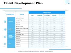Approaches Talent Management Workplace Talent Development Plan Information PDF