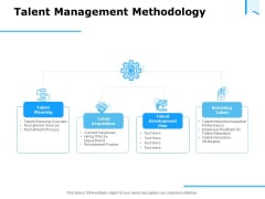 Approaches Talent Management Workplace Talent Management Methodology Pictures PDF