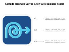 Aptitude Icon With Curved Arrow With Numbers Vector Ppt PowerPoint Presentation File Format PDF