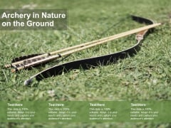 Archery In Nature On The Ground Ppt PowerPoint Presentation Styles