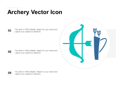 Archery Vector Icon Ppt PowerPoint Presentation Outline Influencers