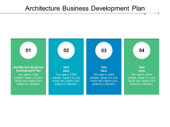 Architecture Business Development Plan Ppt PowerPoint Presentation Show Backgrounds Cpb