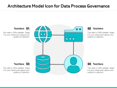 Architecture Model Icon For Data Process Governance Ppt PowerPoint Presentation Outline Designs PDF